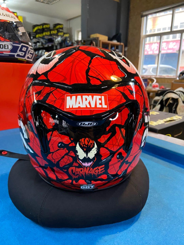 HJC Massacre Venom Iron Man Batman Marvel Joint Motorcycle Motorcycle Helmet จุดในประเทศ