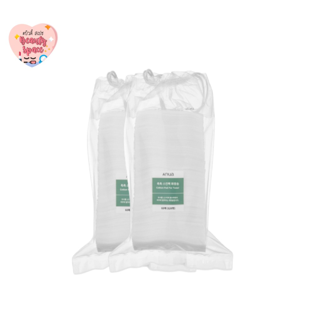(แท้💯/พร้อมส่ง)Anua cotton pad for tonerมี120แผ่น
