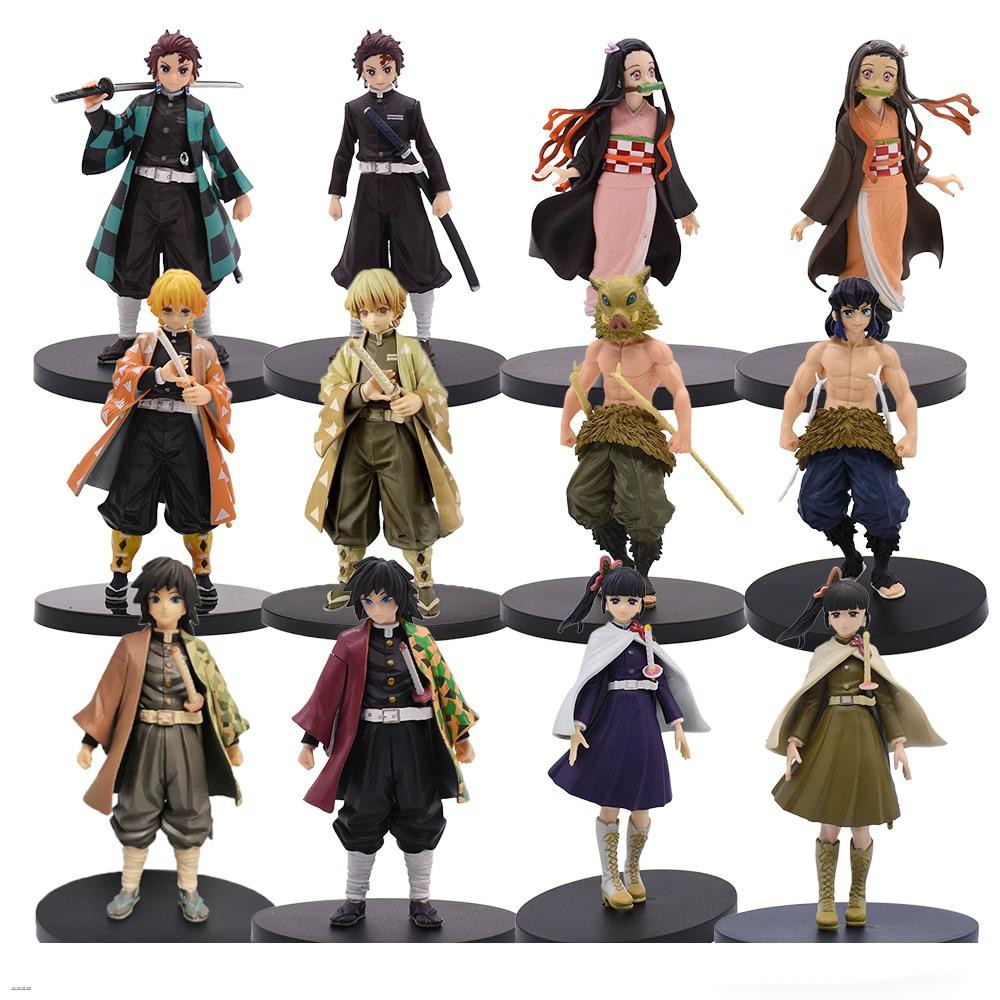 Demon Slayer Figure Toy Kamado Nezuko Tanjirou Agatsuma Zenitsu Hashibira Inosuke  PVC Action Model toys