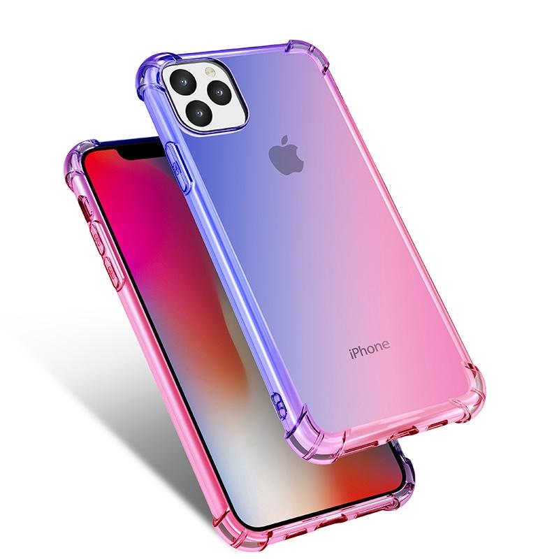 เคสโทรศัพท์มือถือ แบบสองสีไล่โทนสี สําหรับ Iphone 11 Pro Max 5s SE 6 6s 7 8 Plus