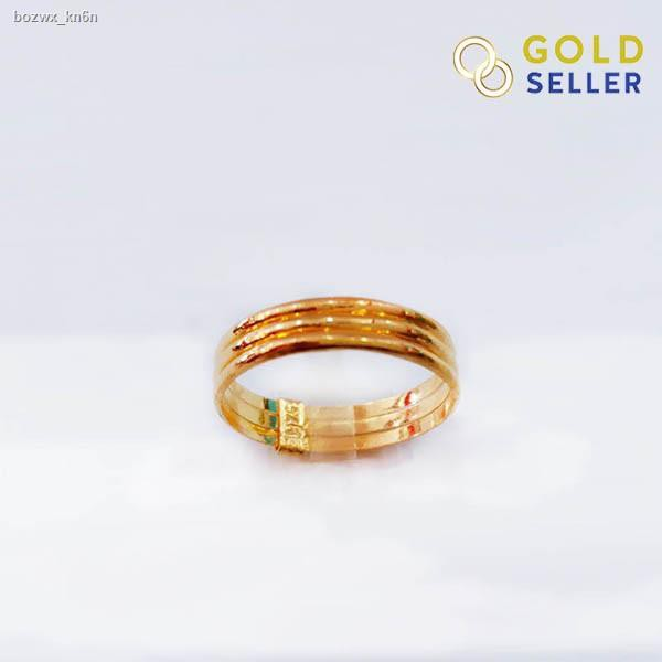 ราคาต่ำสุด✎♙Goldseller แหวนทอง ลายกิ๊ฟเกลี้ยง ครึ่งสลึง ทองคำแท้ 96.5 % คละลาย
