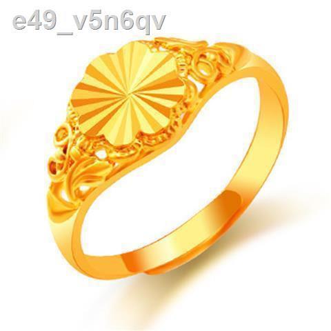 【ลดราคา】✾❀❂[ส่งต่างหู] แหวนทองคำขาวเวียดนามแหวนทองหญิงเปิดแหวนทองแฟชั่นปรับได้เด็ก