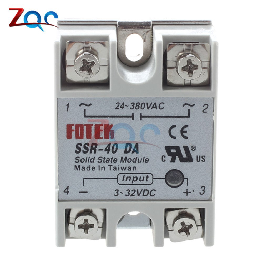 SSR-50DA 50A Solid State Relay Module 3-32VDC //24-380VAC With Heat Sink