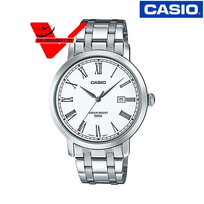 Veladeedee นาฬิกา  Casio นาฬิกาข้อมือชาย สายสแตนเลส รุ่น MTP-E149D-7BVDF AbRp
