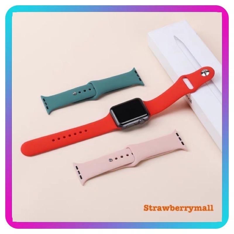 ✜สาย applewatch สายรัดซิลิโคนสำหรับ Series 6 SE/5/4/3/2/1 ขนาด 38/40/42/44 มม