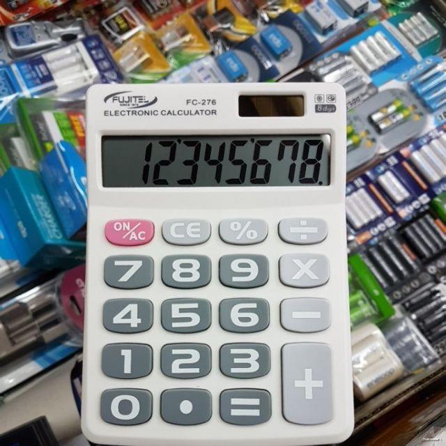 ยางยืดออกกําลังกาย❃เครื่องคิดเลข Fujitel แป้นกดใหญ่ ตัวเลขใหญ่ 8หลัก