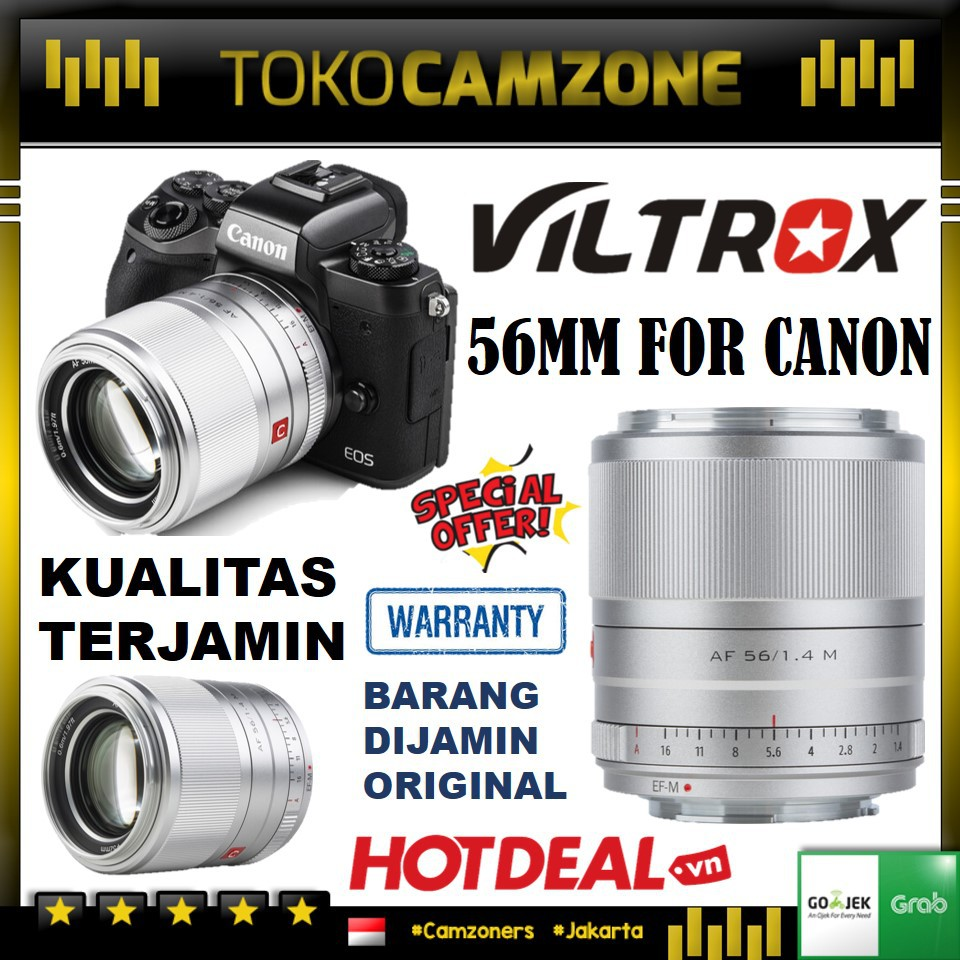Viltrox Af 56mm F / 1.4 M เลนส์สําหรับ Canon