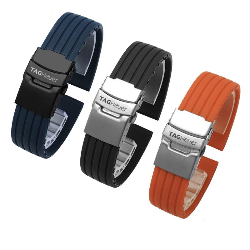 🔥สายนาฬิกา🔥 🔥สายนาฬิกา🔥 TAG Heuer Carrera Diving Series Watch Band Band เทป Rubber Band Band ซิลิโคนสายนาฬิกาสำหรับผ