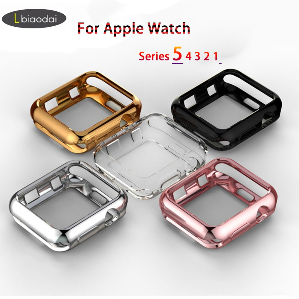 TPU bumper for Apple Watch case 44mm 40mm iWatch 42mm 38mm Screen Protector Cover for Apple watch series 5 4 3 2 1 Acces