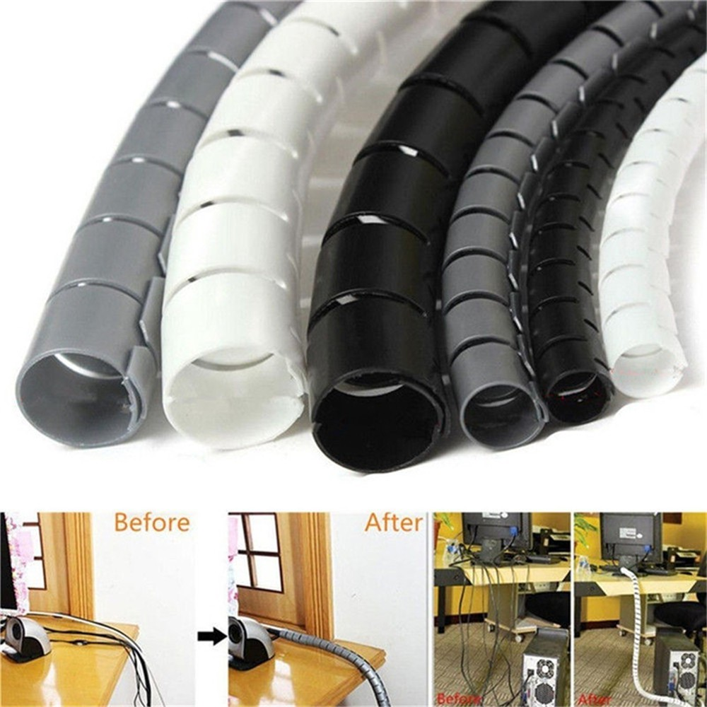 Flexible Spiral Tube Cable Winder Cable Organizer Wire Wrap Cord Protector Wire