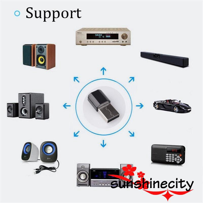 x6 Wireless Bluetooth 4.2 3.5mm AUX Audio Stereo Music Home Car Receiver Adapter