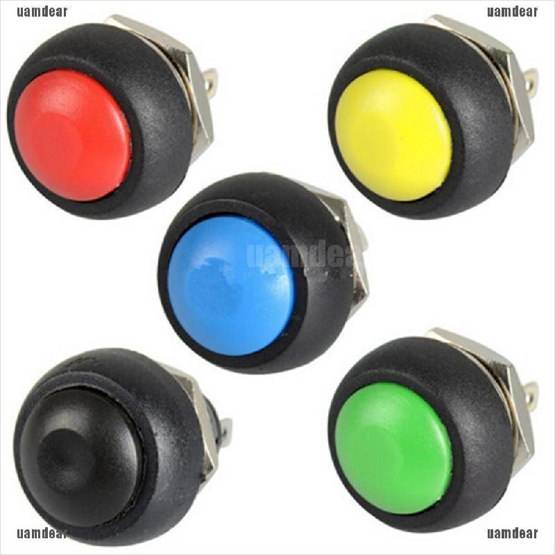 12mm Waterproof Mini Round Switch Waterproof Momentary ON//OFF Push Button NEW