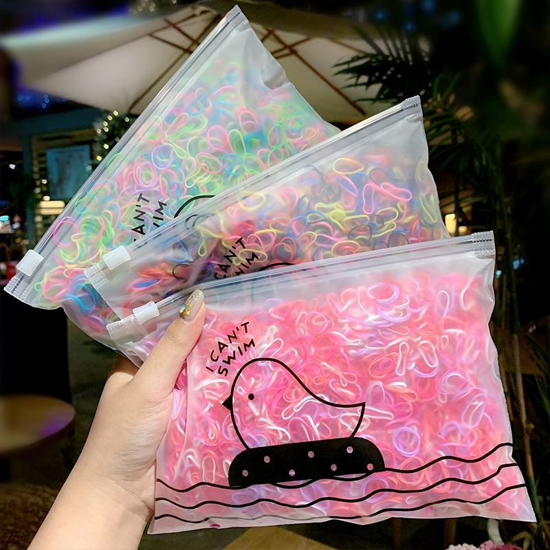 1000PCS//Pack Girls Hair Bands Hairstyle Elastic Rubber Disposable Hair Rings New