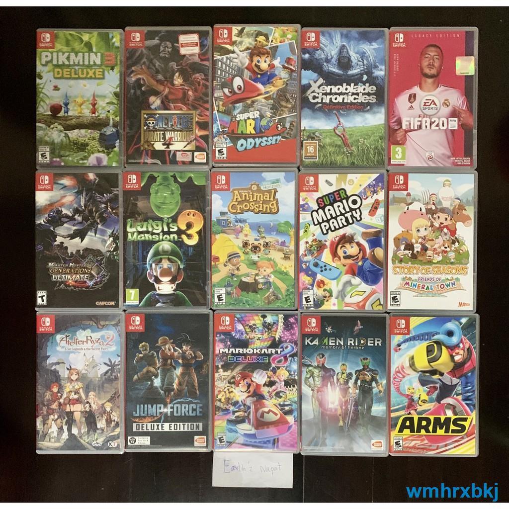 ♗แผ่นเกมส์ NintendoSwitch มือ1และมือสองมือ2 game มือสองมือ2 แผ่น มือสอง