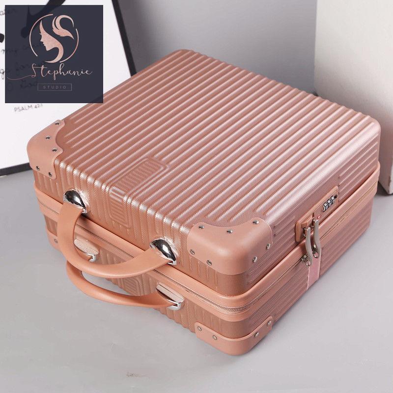 กระเป๋าเดินทาง กระเป๋าเดินทางใบเล็ก กระเป๋าเดินทางใบเล็กผู้หญิง กระเป๋าเครื่องสำอาง 14 นิ้ว เวอร์ชั่นเกาหลี กระเป๋าเก็บข