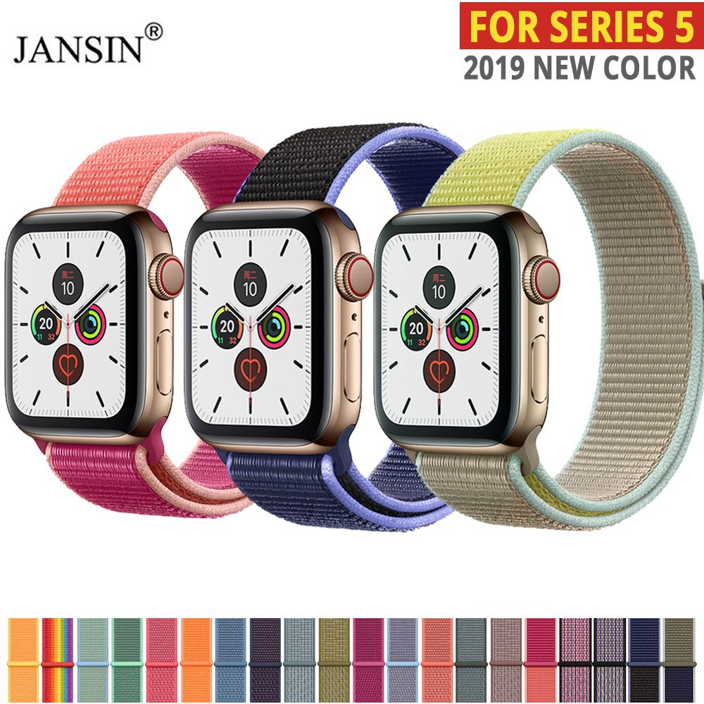 สาย applewatch สายนาฬิกา applewatch สายนาฬิกา สาย applewatch Apple Watch 5 Band Woven Nylon Loop for iwatch Series 5 4 3