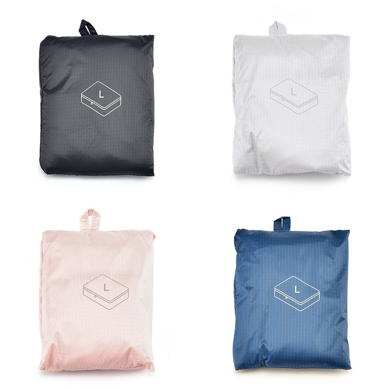 Muji กระเป๋าเก็บของร่มร่อนผ้าทอพับเก็บได้กระเป๋าเดินทางเสื้อผ้าชุดชั้นในจบถุงเก็