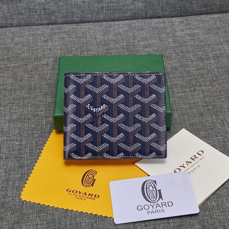 New Goyard wallet GAOY with leather short half fold Men's  card holder wallet  men ZMvE