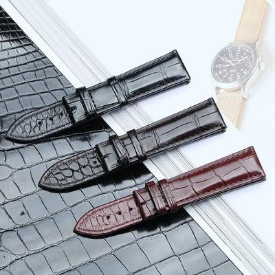 で✩สายนาฬิกา applewatchนาฬิกา 22mmสายนาฬิกาหนังจระเข้สองด้านเหมาะสำหรับ Vacheron Constantin Earl Breguet หนังแท้ผู้ชายและ