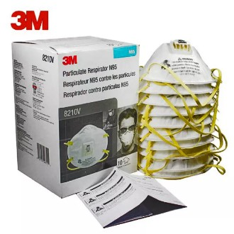 3M™ 8210N95 ชนิดวาล์ว มาตรฐาน NIOSH [COD]หน้ากากป้องกันฝุ่น ละออง 8210V N95 หน้ากากป้องกันฝุ่นละออง ชนิดวาล์ว Valved PM2