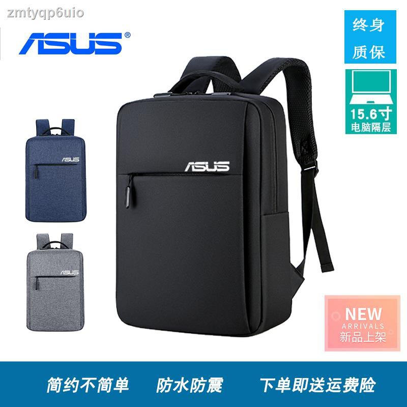 ถูกที่สุด◕ASUS กระเป๋าเป้สะพายหลังแล็ปท็อป 14 นิ้ว 15.6 นิ้วกระเป๋าเป้นักเรียนสำหรับเดินทางเพื่อธุรกิจสำหรับผู้ชายและผู