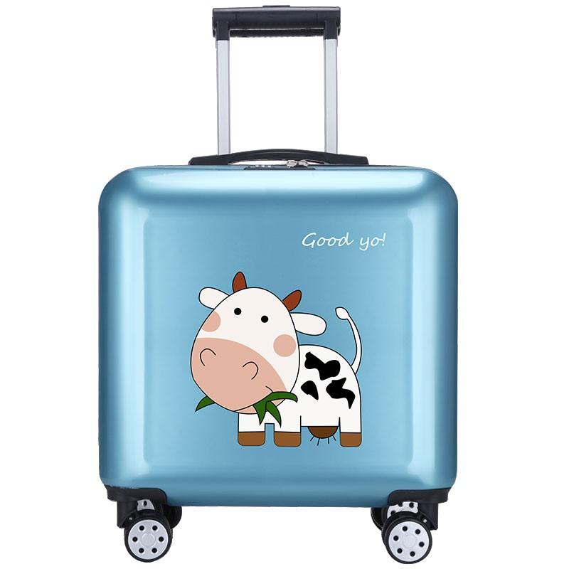 や℅กระเป๋าเดินทางเด็ก  กระเป๋ารถเข็นเดินทางกระเป๋าเดินทางเด็กการ์ตูนกรณีรถเข็นเด็ก 18 นิ้วเด็กผู้หญิงน่ารักกระเป๋าเดินทาง