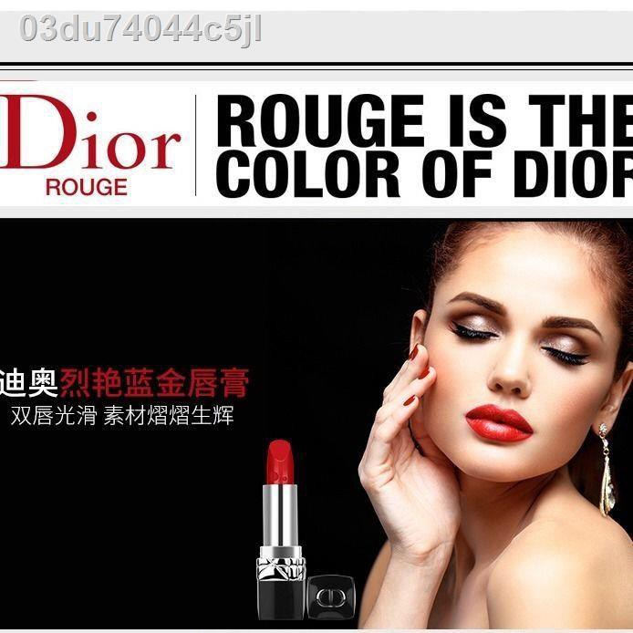 ◄Dior Lipstick Moisturizing Red 999 Matte 888 Intense Blue Gold Metal นำเข้าของแท้