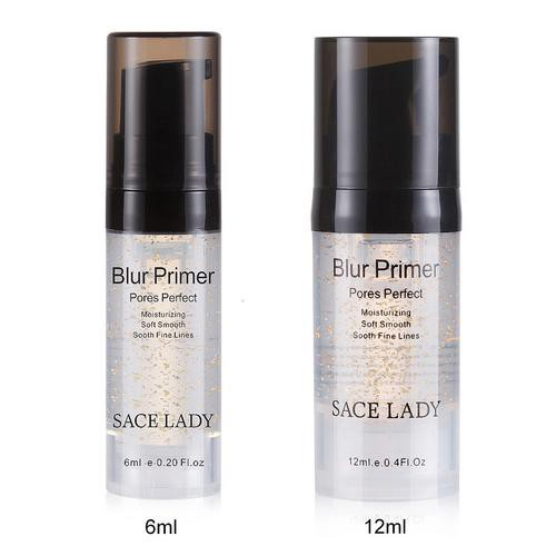 6ml 12ml Gold Foil Invisible Pores Makeup Primer Base Moisturizer Oil