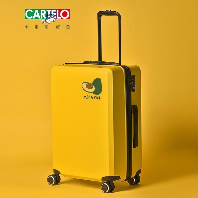 กล่องรถเข็นจระเข้ cardeille ของแท้(CARTELO)กระเป๋าเดินทางผู้หญิงใบเล็ก20นิ้วรถเข็น24นักศึกษาวิทยาลัยกระเป๋าเดินทางเกาหลี