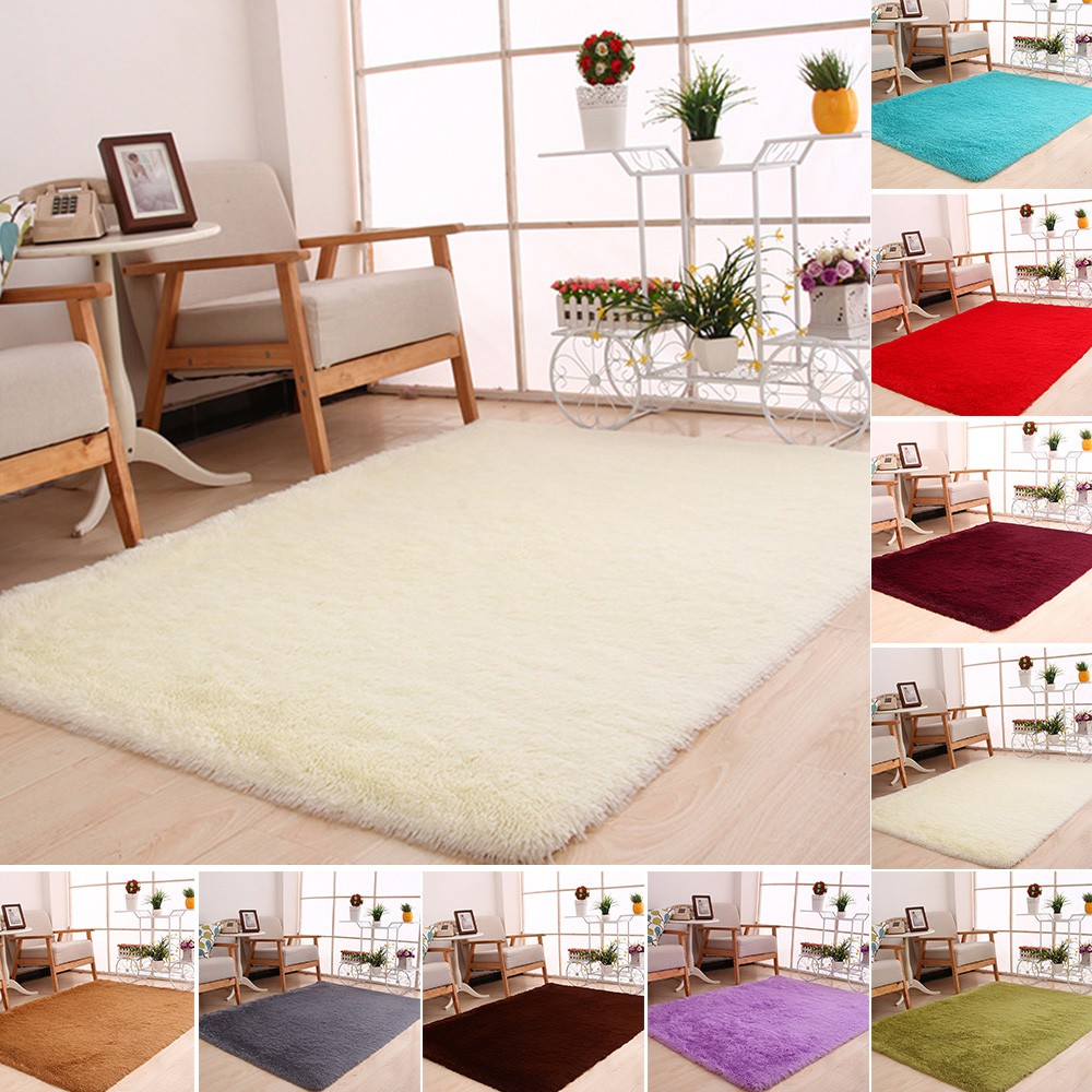 Large Plush Gy Soft Carpet Area Rug, Soft Area Rugs For Living Room
