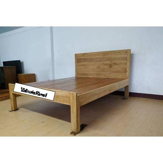 เตียงนอนไม้สักทองแก่แท้ ขนาด 3.5,5 และ6ฟุต พิเศษขนาด5,6ฟุตราคาเดียวกัน