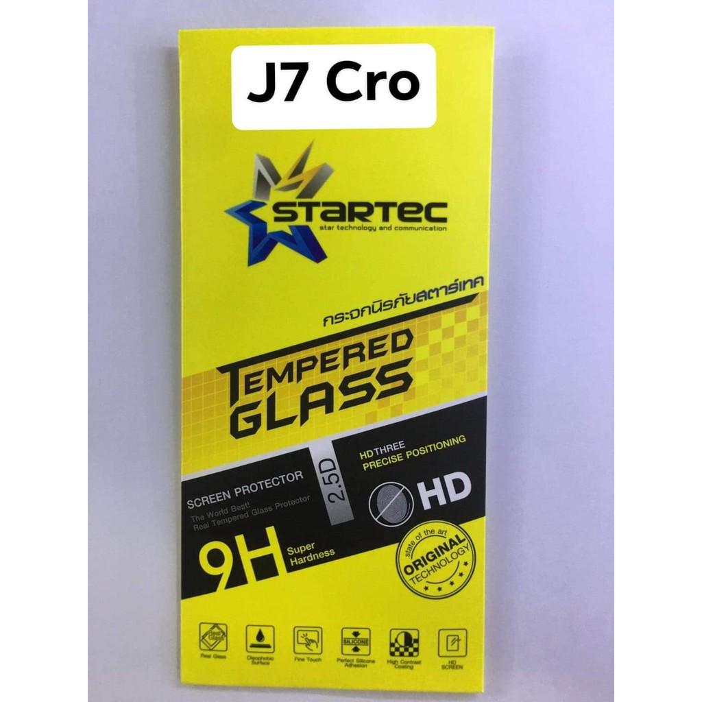 ฟิล์มกระจกSamsang J7 Cro  ใส  ยี่ห้อstartec