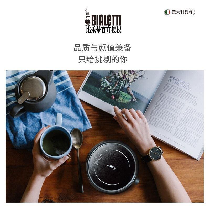 ☪ヴ อุปกรณ์ชงกาแฟ Moka pot สแตนเลสในครัวเรือน Bialetti เตาไฟฟ้าตุ๋นไฟเตาเซรามิกไฟฟ้าบ้านกาแฟขนาดเล็กโมกะหม้อมินิเครื่องทำ