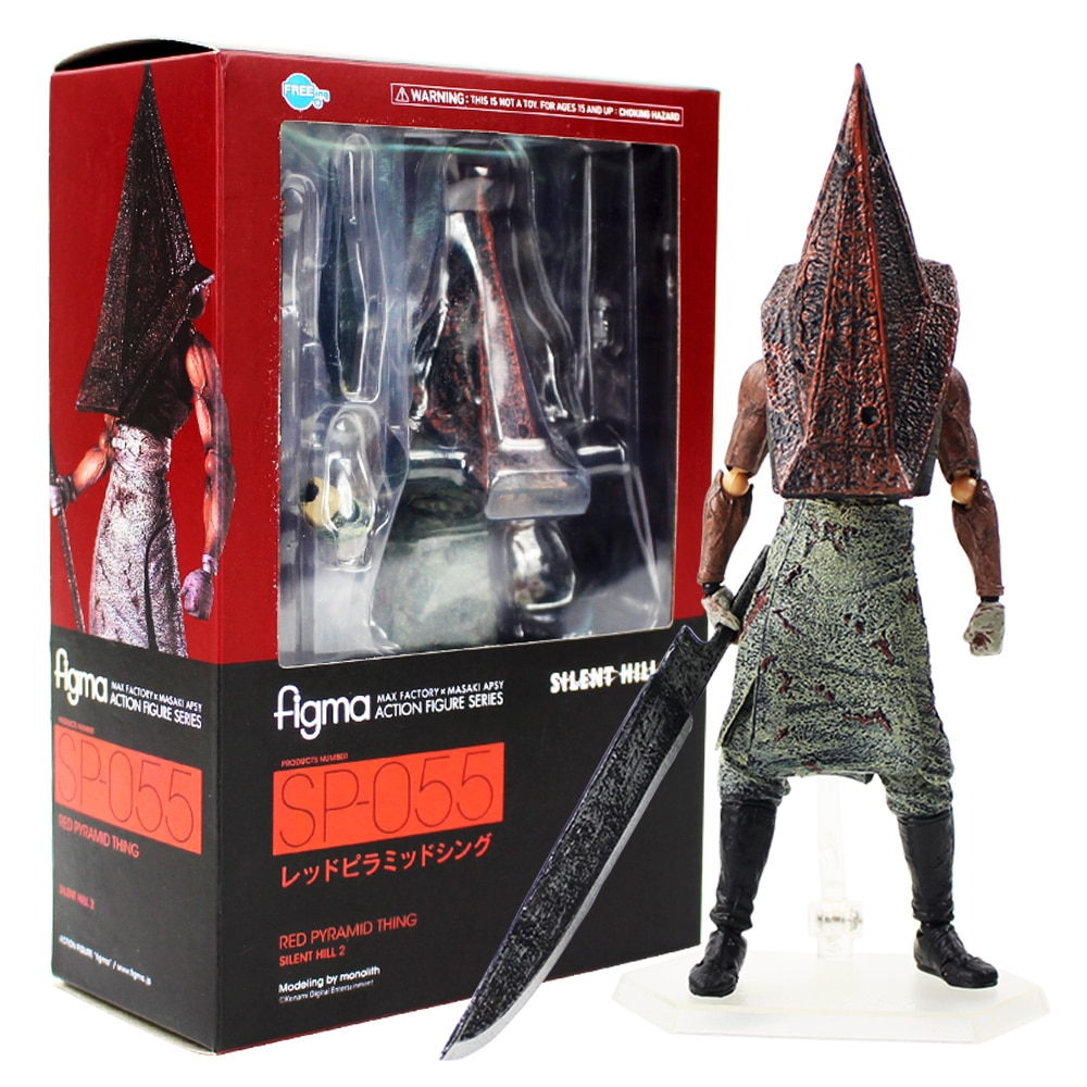 18cm Action Figure Series Silent Hill 2 Red Pyramid Thing SP 055 With Sword Weapon PVC Action Figure Collectible Model