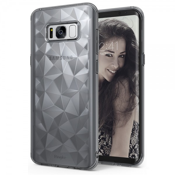 เคส Rearth Ringke Air Prism Case for Galaxy S8 - Smoke Black ของแท้สินค้านำเข้า