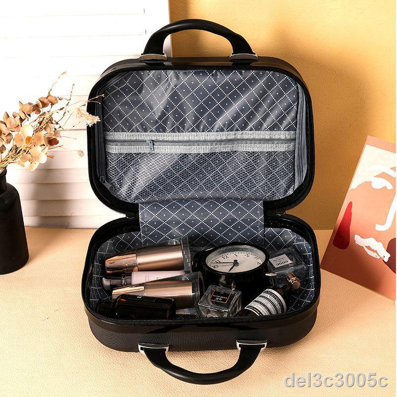 ราคาต่ำสุด♠แฟชั่นใหม่ 14- นิ้วกระเป๋าเครื่องสำอางแบบพกพาหญิงน่ารักกระเป๋าเดินทางกล่องเก็บกระเป๋าขนาดเล็กน้ำหนักเบาความจ