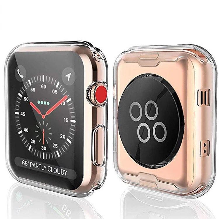 เคส applewatch เคสใส TPU นิ่มคลุมหน้าจอ Apple Watch ได้ทุกSeries 6 5 4 3 2 1 SE