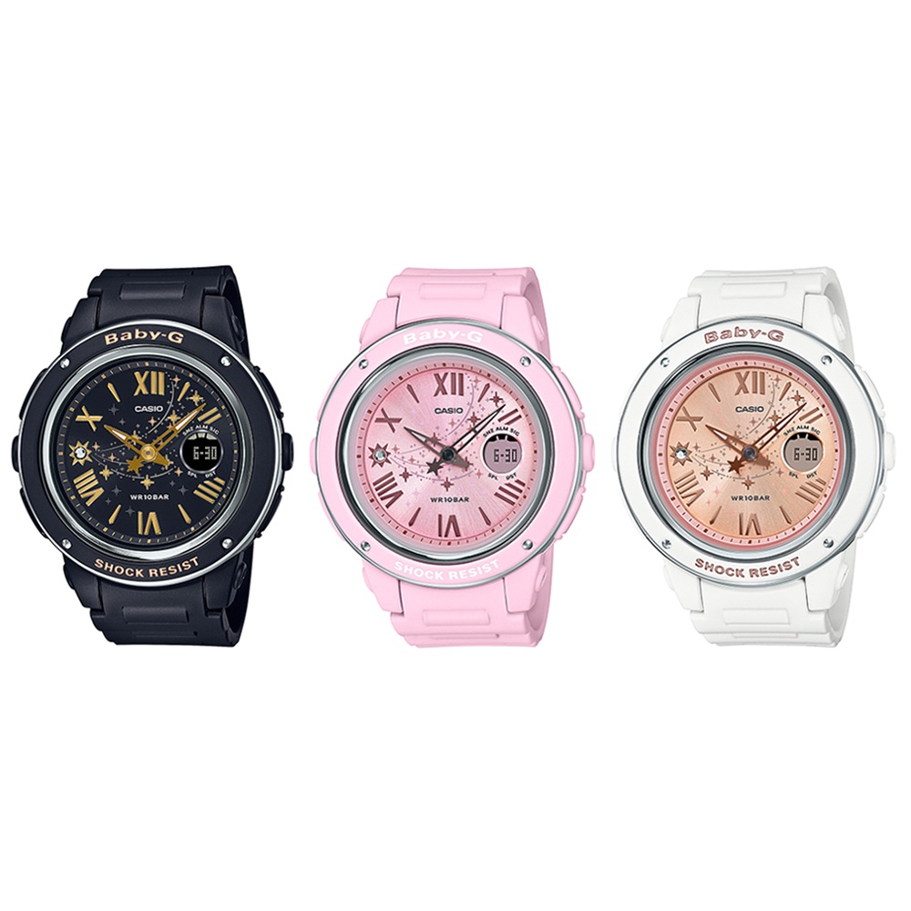 applewatch series 6☃◆○Casio Baby-G นาฬิกาข้อมือผู้หญิง สายเรซิ่น รุ่น BGA-150ST (BGA-150ST-1A,BGA-150ST-4A,BGA-150ST-7A)