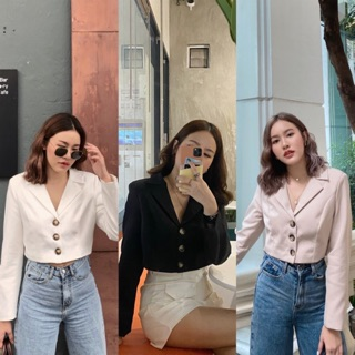 Mini blazer crop พร้