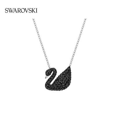﹟✥เครื่องประดับเครื่องประดับหรูหราสร้อยคอ[618คาร์นิวัล] Swarovski หงส์ดำ (ใหญ่) Iconic Swan สร้อยคอหญิงสร้อยไหปลาร้า