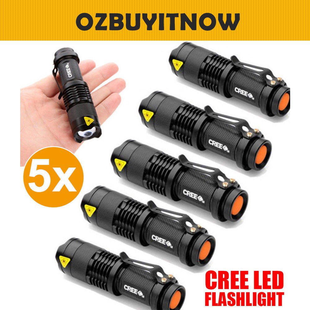 Adjustable Focus Mini Flashlight CREE Q5 2000 Lumens LED AA 14500
