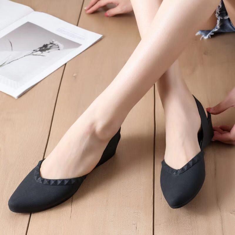 ✕☾✻รองเท้าคัชชูหัวแหลม มีส้น รุ่น TP41รองเท้าแตะผู้หญิง