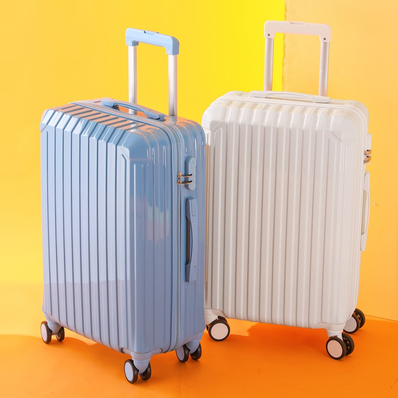 กระเป๋าเดินทางหนังแบบมีรหัสผ่าน 24 นิ้ว