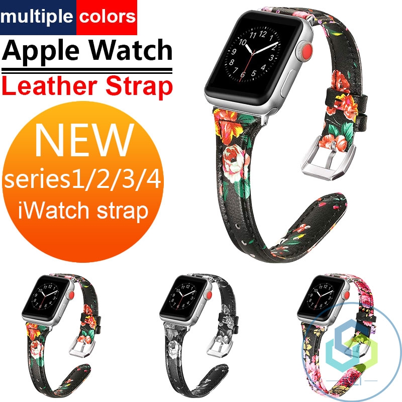 AppleWatch สายนาฬิกา Apple นาฬิกา Series1/2/3/4 หนัง IWatch ของแท้หนังเปลี่ยน