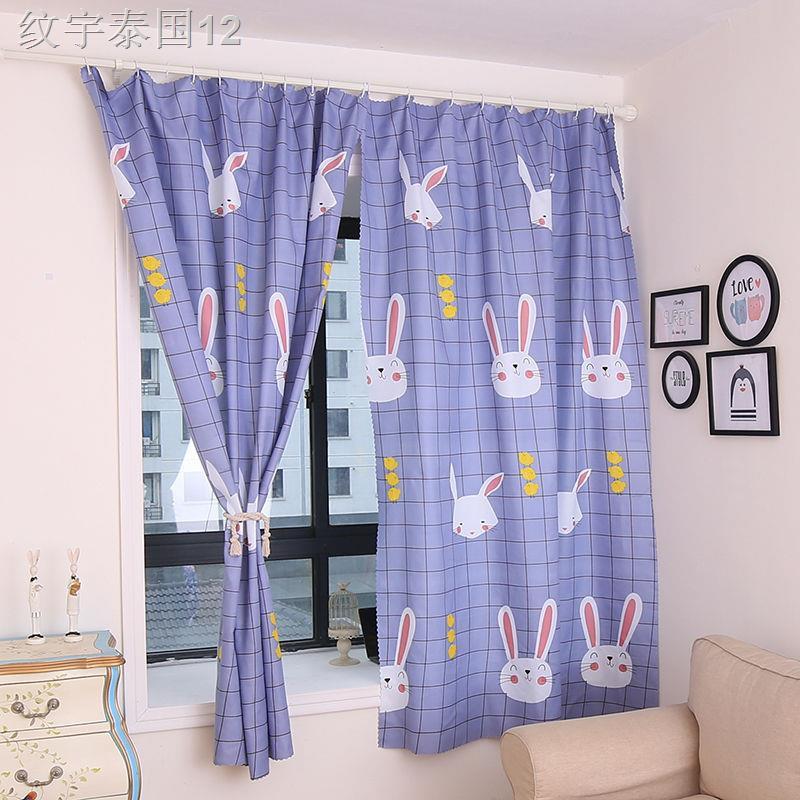 ผ้าขนหนู▼ஐ๑【เจาะฟรี】ม่านบังแดดผ้าม่านผ้าม่านสำเร็จรูปม่านห้องเช่าม่านหอพักผ้าม่านระบายอากาศ