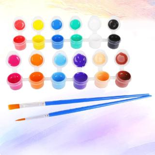 2ml 12 Vibrant Colors Washable Gouache Paint for Kids School Finger Paint new
