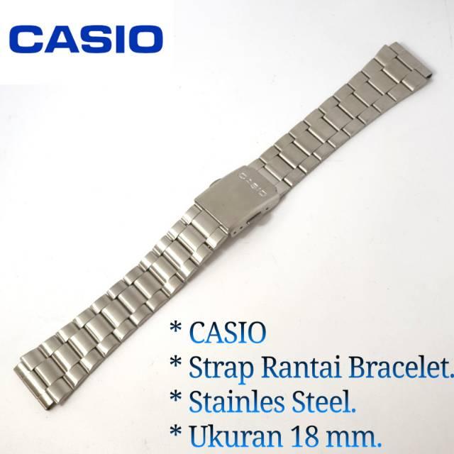 สายนาฬิกาข้อมือสแตนเลส Casio ขนาด 18 มม.
