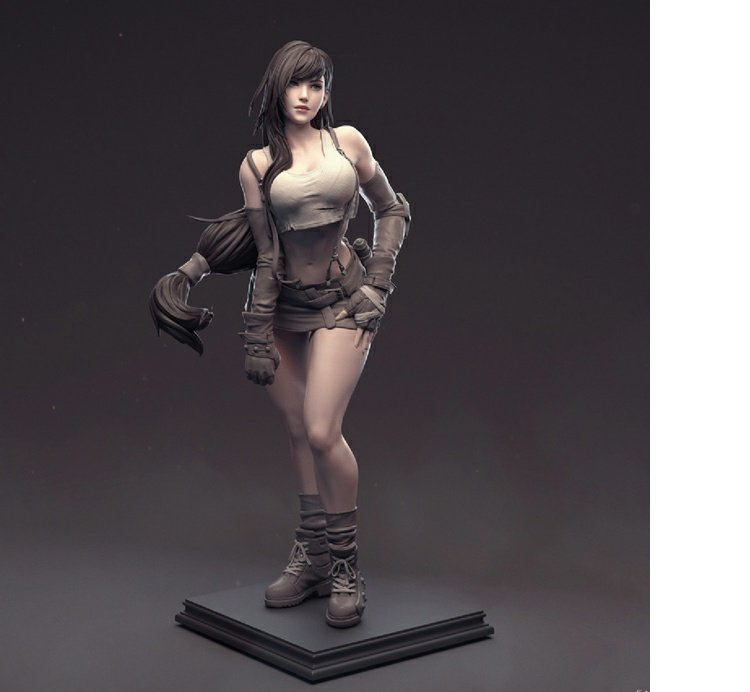 Resin Figure Kit 1/6 Final Fantasy VII Tifa Unpainted Garage Resin Model Kit