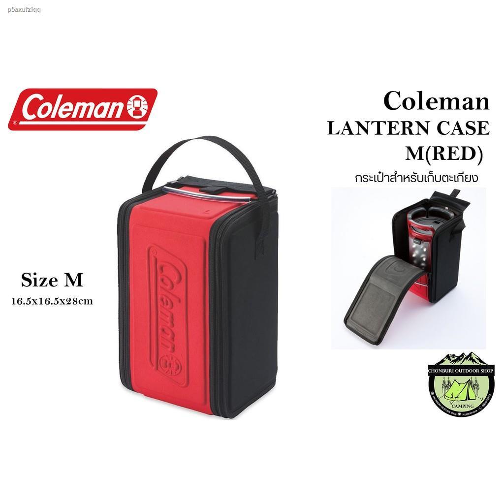 ราคาต่ำสุด☁COLEMAN JAPAN LANTERN CASE/M(RED) กระเป๋าผ้าใส่ตะเกียง