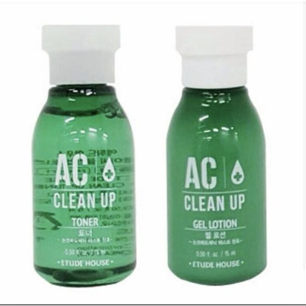 Etude House AC Clean Up Gel Toner 15 ml + lotion 15 ml